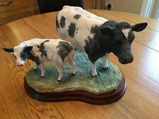 More details for border fine arts limited edition belgian blue cow & calf b0929 jack crewdson