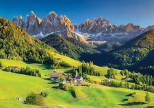 Vlies Fototapete Berge Landschaft grün Natur Wiese Gebirge TAPETE Wohnzimmer 981