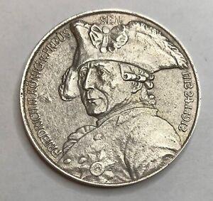 Kaiserreich/Preussen Medaille 1912 MEDAILLE Silber Friedrich II.aus Nachlass !!