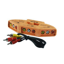 3-Way RCA Audio Video Selector Switcher Switch Box A/V Multi input/output New