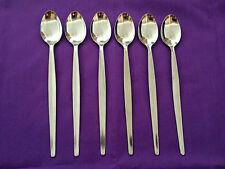 SODA SPOON STAINLESS Sundae Long Teaspoon Parfait Iced Coffee Cafe Cutlery x6pce