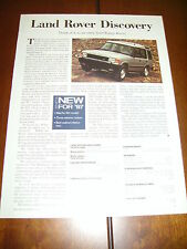 1997 LAND ROVER DISCOVERY  ***ORIGINAL ARTICLE***