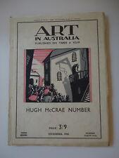 ART IN AUSTRALIA HUGH McCRAE NUMBER THIRD SERIES DEC 1931 NUMBER 41 A FEINT