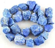 Frost 10-15mm Rough Natural Lapis Lazuli Nugget Gemstone Beads 15''