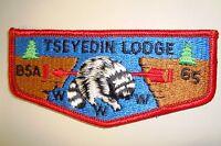 OA TSEYEDIN LODGE 65 MERGED 123 62 GEORGE ROGERS CLARK PATCH COON SERVICE FLAP