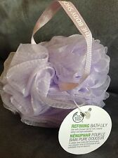THE BODY SHOP REFINING LIGHT PURPLE BATH LILY (SHOWER PUFF) - NEW WITH TAGS