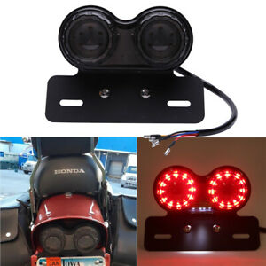 Motorcycle Rear LED Turn Signals Brake Tail Light For Honda Shadow Spirit VT 750