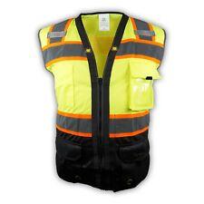 Surveyor Black/ Lime Two Tones Safety Vest, ANSI/ ISEA 107-2015/ Photo ID Pocket