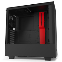 NZXT H510 Black/Red ATX Mid Mid Tower Case Tempered Glass Desktop Computer Case