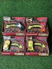 4 x Disney Cars 3 Crazy 8 Crashers Smash & Crash Cars APB CRUZ TACO LIGHTNING Mc