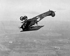 New 8x10 Airplane Aviation Photo: Fokker Biplane Performing a Loop, c. 1920