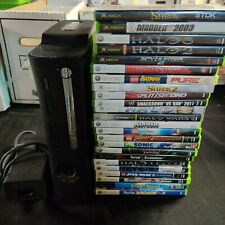 X-BOX 360 BASE SYSTEM 120 GB HDD AND 24 GAMES - NO CONTROLLER OR EDISON CABLE