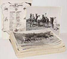 1950 Marin County CA Mounted Patrol Club Cowboy Quarter Horse Riding Photo Lot