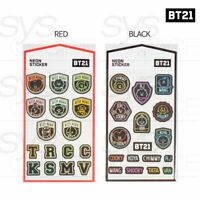 BTS BT21 Official Authentic Goods Neon Sticker 2SET + Tracking Number