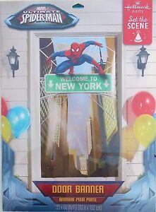 Party Door Banner SPIDER-MAN Birthday Room Poster Supplies Hallmark