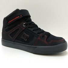 DC SHOES SPARTAN HIGH EV BLACK RED GREY KIDS TRAINERS