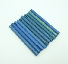 Tinkertoy 10 Blue Rods Replacement Parts 4.75 inch Wooden Tinker Toy Sticks