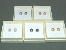 Honora Set of 5 Multi Color 9mm Cultured Pearl Stud Earrings #E207