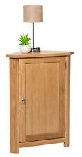 Small Oak Corner Storage Cupboard | Low Cabinet with Shelf | Solid Wood Unit