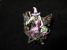 Kirks Folly Halloween Cuff Bracelet Rhinestone Crystal Season Fairy Witch Silver