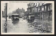 Postcard PITTSBURGH Pennsylvania/PA  Wabash Avenue 1935 Flood Disaster view