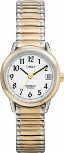 Timex T2H491, Women's Easy Reader, 2-Tone Expansion Watch, Indiglo, Date