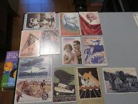 Lote 12 Postales Reproducciones Época Diferentes Temas Nuevo No Viajes