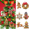 6PCS Xmas Pendant Ornament Gingerbread Man Party Christmas Tree Hanging Decor UK