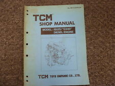 Heavy equipment manuals books ebay tcm toyo umpanki model c240 isuzu diesel engine shop service repair manual fandeluxe Gallery