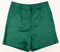 MAISON MARGIELA Women's Linen Blend Shorts, Grass Green, size UK 10 / IT 42