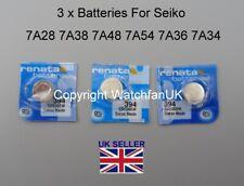 7A28 7A38 7A48 7A54 7A36 7A34 Swiss Made Battery For Seiko Quartz