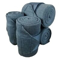 Craftsman Carbonized Bamboo Fiber Elastic Polo Wrap Horse Leg Wraps (Set of 4)