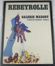 Vintage Original 1967 Paul Rebeyrolle Galerie Maeght Gallery Poster Listed