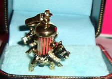 Juicy Couture Yorkies Around Fire Hydrant Charm for Bracelet or Handbag