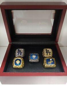 Los Angeles Dodgers - Championship 5 Ring Set W Box. Kershaw, Garvey, Hershiser