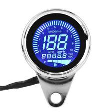 Universal Motorrad Digital LED LCD Tachometer Speed Drehzahlmesser Chrome