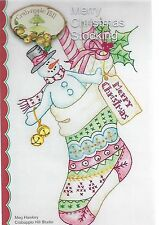CRABAPPLE HILL MERRYCHRISTMAS STOCKING NEW PATTERN  HAND EMBROIDERY DESIGNS