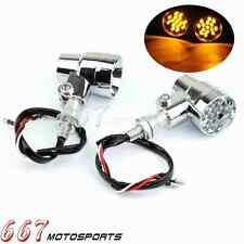 Motorcycle LED Turn Signals Light Blinker For Harley Chopper Cafe Racer Chrome