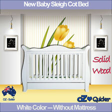 3 in1 White New Zealand Pine Royal sleigh Baby Cot crib Toddler Bed with Drawer