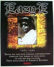 EAZY-E 1996 PROMO ADVERT TRIBUTE priority records