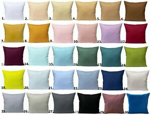 Kissenhülle 40x40 50x50 in 30 Farben Kissenbezug Kissen Bezug 100% Baumwolle UNI