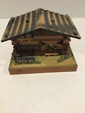 New ListingVintage Swiss Wood House Music Box Reuge, Georgy Girl, Made In Switzerland