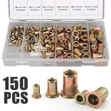 150Pcs Nutserts Rivet Nuts Flange Rivnuts Zinc Plated Steel Nutsert M3-M10 Kit