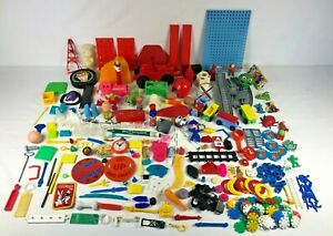 3 Pounds of Vintage Toys 1960's 1970's Parts Figures Weapons Cereal Premiums Etc