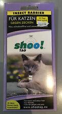 Shoo!Tag Insect Barrier für Katzen gegen Zecken   Ungeziefer   Flöhe  