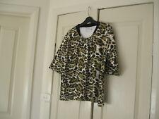 Ladies Top Design Brewster Size 1XXLColour Black,Mustard & White Short Sleeves