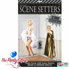 2 MARILYN MONROE SCENE SETTERS Costume Party Decoration Add-Ons 673114