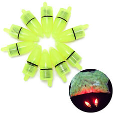 10Pcs LED Light Fishing Bells Alarm Clip Bite Ring Fish Bait Alarm Fishing Tools