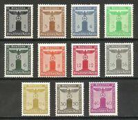 DR Nazi Reich '1938 Stamp full set Oficial Service Swastika Eagle NSDAP #144-54