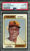 1974 Topps #250 Willie McCovey PSA 6 EX-MT
